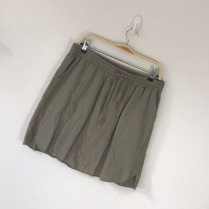 Tan drawstring linen skirt